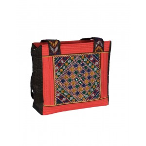 Rakhiyo Cotton Satin Jat Work Shoulder Bag RAK54