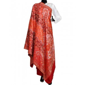 Red Himroo Shawl HS31
