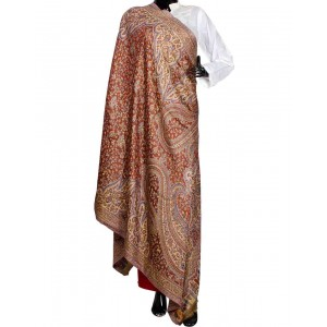 Brown Himroo Shawl HS32