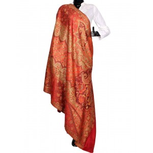 Red Himroo Shawl HS42