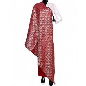 Red Himroo Shawl HS44