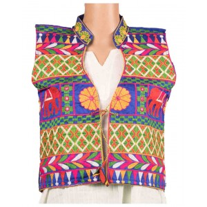 Elephant Print Embroidered Jacket OH9