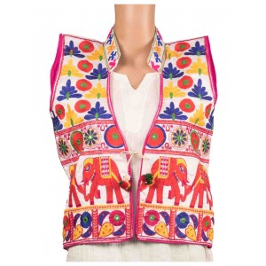 Elephant Print Embroidered Jacket OH10