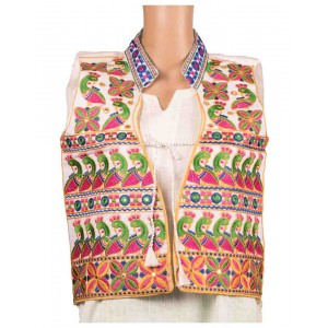 Floral Print Embroidered Jacket OH11