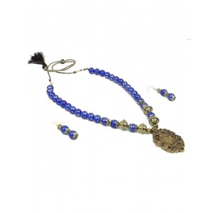 Blue Glass Beads set AK07