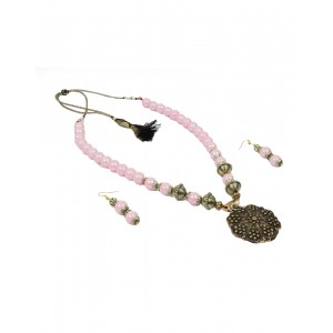 Light Pink Glass Beads Set AK08