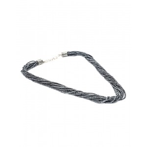 Grey Small Beads Necklace AK14
