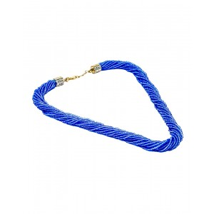 Blue Small Beads Necklace AK20