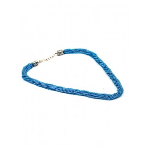 Blue Small Beads Necklace AK23