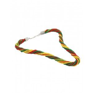 Green, Red  And Yellow Small Beads Necklace AK32
