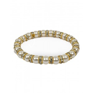 White And Golden Diamond  Bracelet AK38