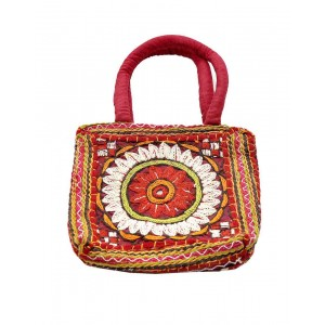 Red Paka Work Cotton Paris Bag
