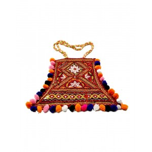 Maroon Paka Work Nawdi Bag