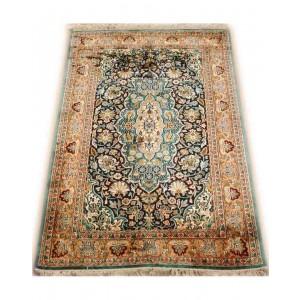 Aqua Blue Ispahan Kashmiri Carpet KCE02