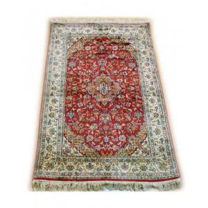 Firebrick Red Meshkin Kashmiri Carpet KCE05