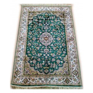 Emerald Green Roudbar Kashmiri Carpet KCE10