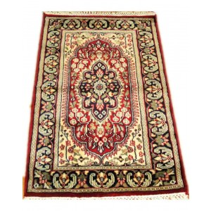 Cardinal Red Yazd Kashmiri Carpet KCE16