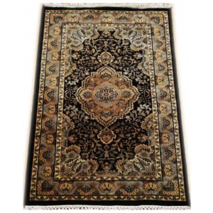 Royal Blue Moud Kashmiri Carpet KCE22