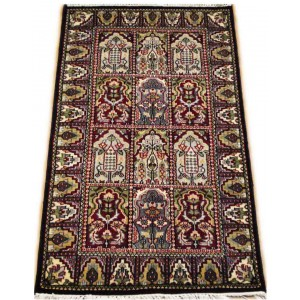 Midnight Blue Qum Kashmiri Carpet KCE23