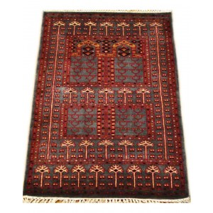 Duke Blue Trellis Kashmiri Carpet KCE24