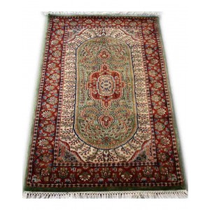Fern Green Tabrez Kashmiri Carpet KCE29