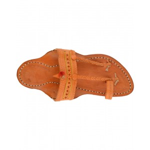 Kolhapuri Men's Special Typical Leather Chappal KCM7
