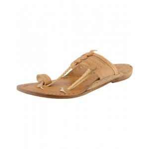 Kolhapuri Men's Natural Kapshi Leather Chappal KCM34
