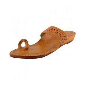 Handmade Leather Kolhapuri Chappal for Women KCF4