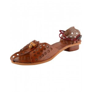Handmade Leather Kolhapuri Chappal for Women KCF17