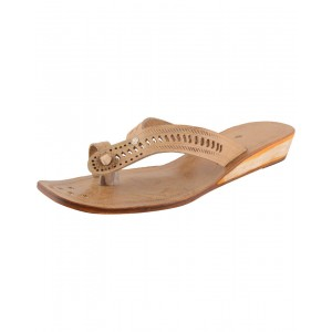 Handmade Leather Kolhapuri Chappal for Women KCF21