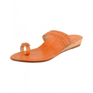 Handmade Leather Kolhapuri Chappal for Women KCF22