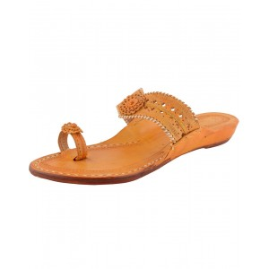 Handmade Leather Sandals - Typical Kolhapuri Chappal for Women KCF23