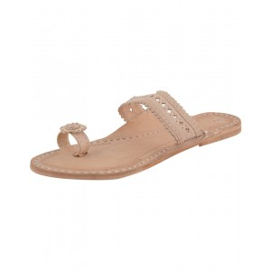 Handmade Leather Sandals - Typical Kolhapuri Chappal for Women KCF8
