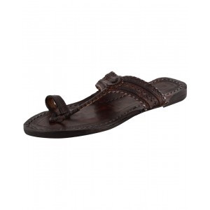 Handmade Leather Sandals - Typical Kolhapuri Chappal for Women KCF1