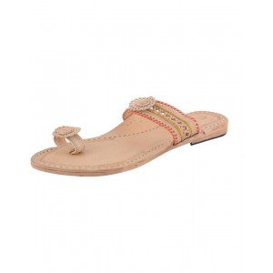 Handmade Leather Sandals - Typical Kolhapuri Chappal for Women KCF20