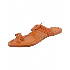 Handmade Leather Sandals - Typical Kolhapuri Chappal for Women KCF18