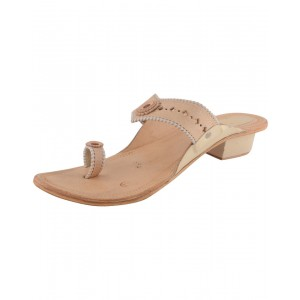Handmade Leather Sandals - Typical Kolhapuri Chappal for Women KCF15