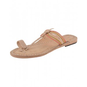 Handmade Leather Sandals - Typical Kolhapuri Chappal for Women KCF16