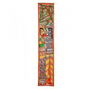 Radha & Krishna Grey Painting