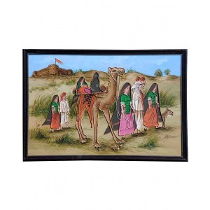 Camel Carvan Mud Work Painting