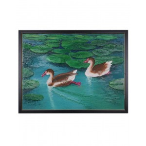 Duck In Water Mud Painting RK185