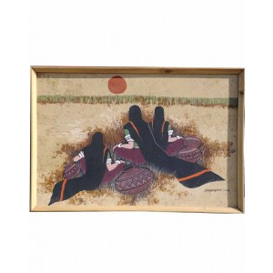 Three Ladies On Canvas RK71