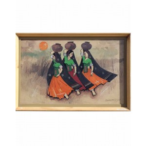 Three Ladies Walking With Pots RK73