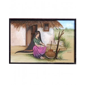 Rabari Lady Doing Household Cores RK74