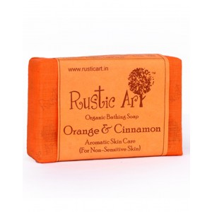 Rustic Art Organic Orange And Cinnamon Soap RA07 (Pack of 2)