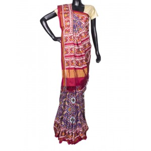 Purple With Multi Color Voragajji Patola Saree