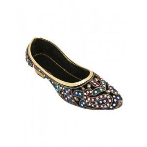 Rajasthani Designer Crystal Belly (Mojari) HFC022