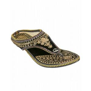 Rajasthani Golden Kanthi Slipper HFC036