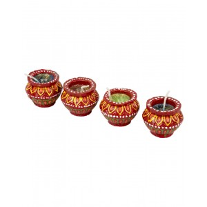 Decorative Clay Diya SC207 (Set Of 4)