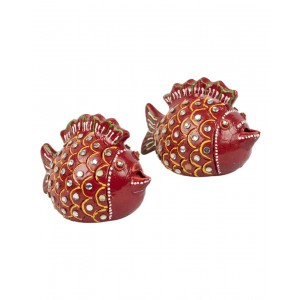 Decorative Clay Diya SC209 (Set Of 2)